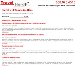 TravelHerd Online Knowledge Base